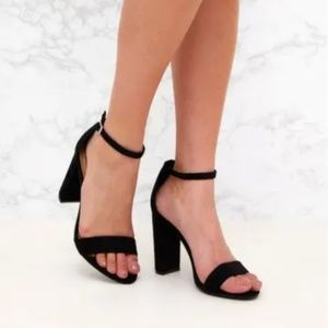 BRAND-NEW Pretty Little Thing Faux Suede Heels